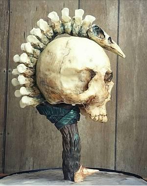 Skull staff - Cake by Christine