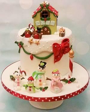 GOLD CI - Christmas Cake - Cake by Shereen