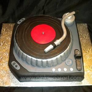 DJ Turntable Cake - Cake by PinkSugarArt