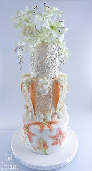 Fashion Wedding Cake Collaboration - Cake by Calli Creations