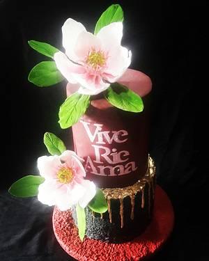 Magnolias - Cake by MARCELA CORCA