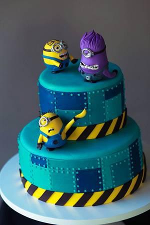 Minion Cake / Despicable Me Cake - Cake by Alex Narramore (The Mischief Maker)