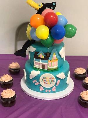 """Baby shower """"Up"""" movie theme - Cake by m1bame"""