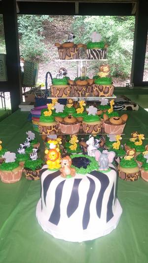 Jungle baby shower - Cake by m1bame
