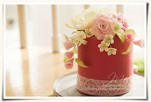 Vintage flower cake - Cake by Monika