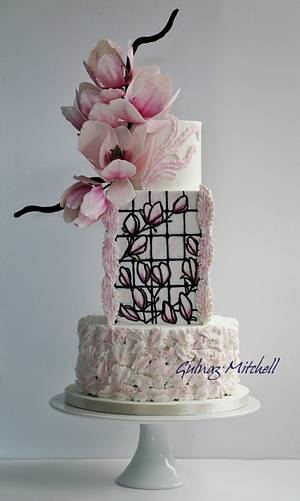 Magnolia cake, Cake craft guides Wedding Cakes and Sugar flowers, issue 26 - Cake by Gulnaz Mitchell