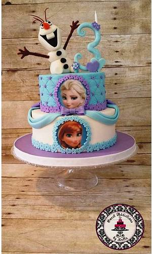 Frozen Cake - Cake by Tastebuds Cakery