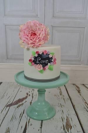 Simply Love - Cake by Lulu Belles Cupcake Creations