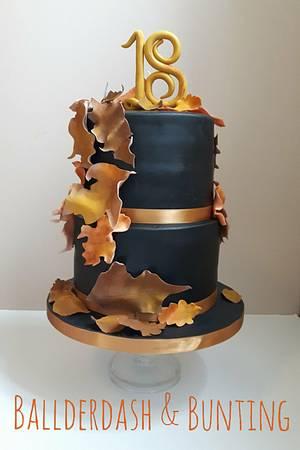 Autumn Leaves - Cake by Ballderdash & Bunting