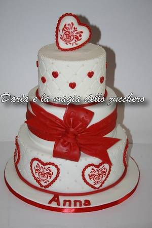 hearts and love - Cake by Daria Albanese