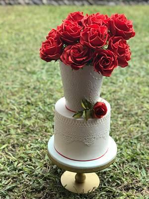 Rosas Rojas 😊 - Cake by Griselda de Pedro