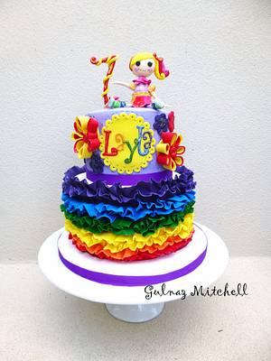 Lalaloopsy Rainbow cake - Cake by Gulnaz Mitchell