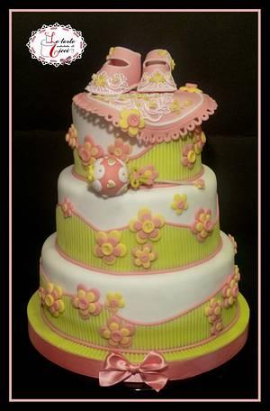"Baptism cake for girl - Cake by ""Le torte artistiche di Cicci"""