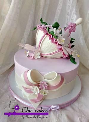 Sunshade, flowers, butterflies .......summer - Cake by Radmila