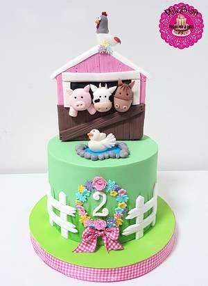 Cute & girly farm cake - Cake by MileBian