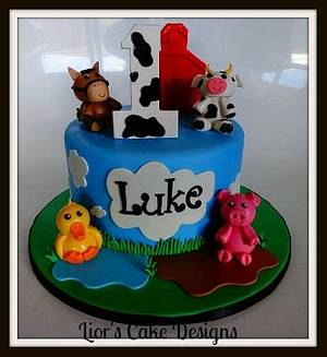 Farm yard - Cake by Lior's Cake Designs