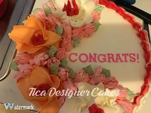 Simple graduation cake - Cake by Tica's Designer Cakes
