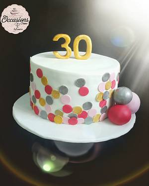 30 birthday cake - Cake by Occasions Cakes