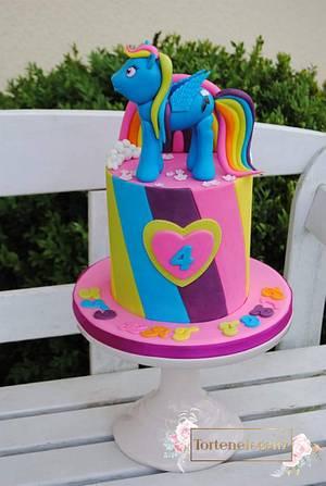 """My little """"Rainbow"""" Pony - Cake by Torteneleganz"""