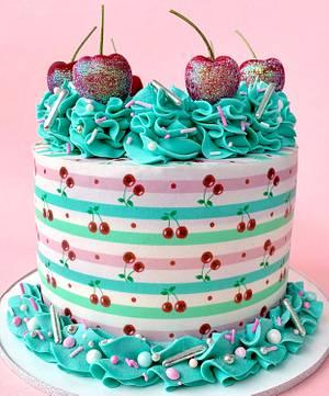 Cherry Cake  - Cake by Buttercut_bakery