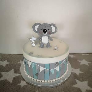 Cute koala babyshower cake - Cake by Sweet cakes by Masha