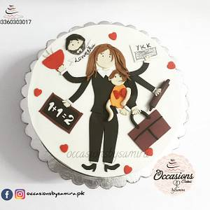 💖Working woman cake💞 - Cake by Occasions Cakes