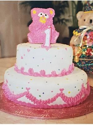 Pink 1st Birthday - Cake by Julia