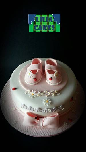Girl Baby Shoes  - Cake by LiliaCakes