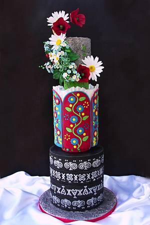 Cake Čičmany - Cake by Zuzana Bezakova
