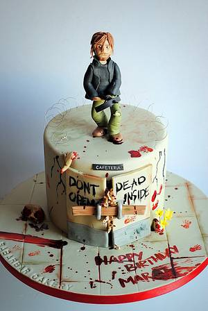 Bloody cake! The walking dead themes cake - Cake by Rabarbar_cakery