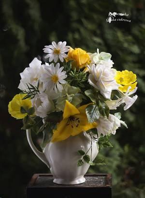 Bouquet sugar flowers  - Cake by Katarzynka