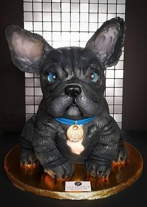 French bulldog cake - Cake by Paladarte El Salvador