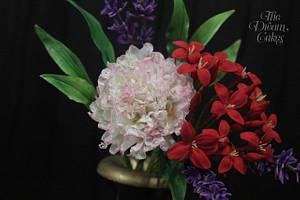 Super Easy quick Sugar flowers - Cake by Ashwini Sarabhai