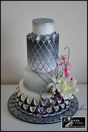 Perth Royal Show Wedding Cake 1st Prize and 2 special prizes 2015 - Cake by Comper Cakes