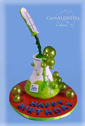 Science beeker  cake - Cake by CuriAUSSIEty  Cakes