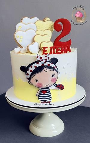 Girl & Ladybug - Cake by Emily's Bakery