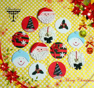 Christmas Cupcake Toppers - Cake by khushi