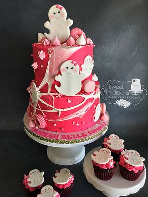 Girly Ghosts - Cake by Sweet Traditions
