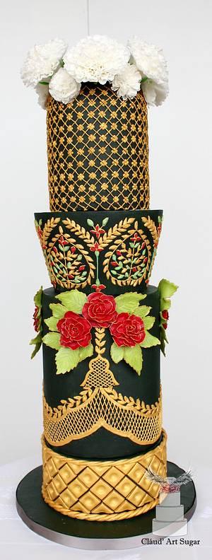 Magnificent Bangladesh - An International Cake Art Collaboration- Bangladesh Wedding Cake - Cake by Cláud' Art Sugar