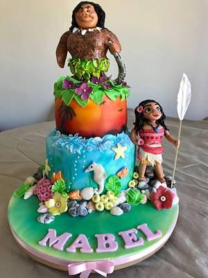 Maui & Moana cake - Cake by Helen35