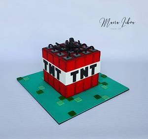 TNT minecraft - Cake by Maira Liboa