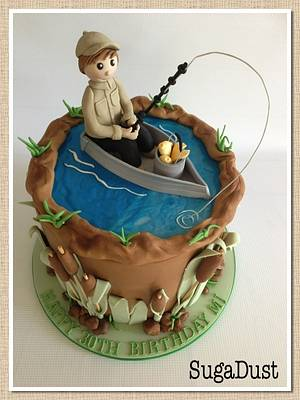 GONE FISHING! - Cake by Mary @ SugaDust