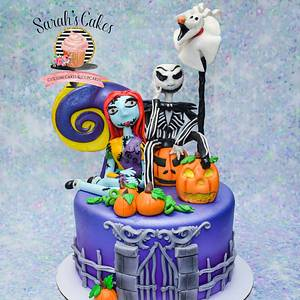 Nightmare before Christmas cake - Cake by Sarah's Cakes