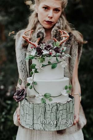 Natural Boho Wedding Cake - Cake by SugarArtistry