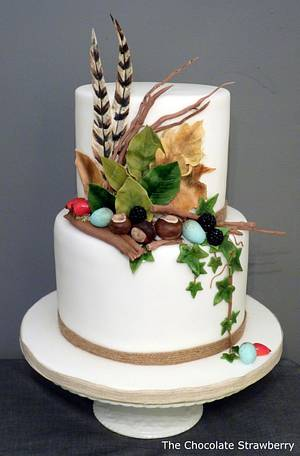 Treasures we've found on our walks in the woods - Cake by Sarah Jones