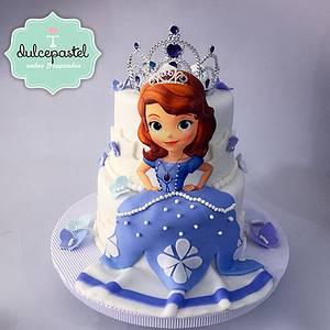 Torta Princesita Sofía - Sofia The First Cake - Cake by Dulcepastel.com