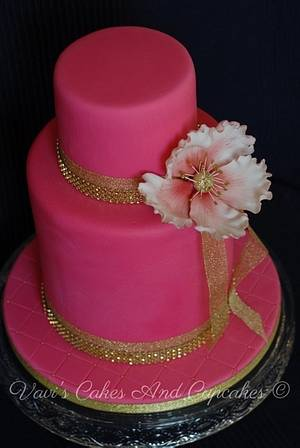 Simple And Elegant 50th - Cake by Vavijana Velkov