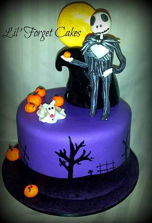 Nightmare Before Christmas - Cake by lilforgetcakes