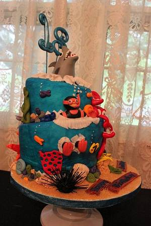 Shark/Ocean cake - Cake by Nancy's Cakes and Beyond