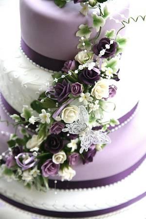 Pretty Purple Wedding Cake - Cake by Chaley O'Neill